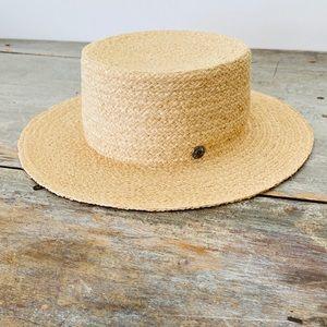 ♥️ Olive & Pique ♥️ Tan Boater Hat